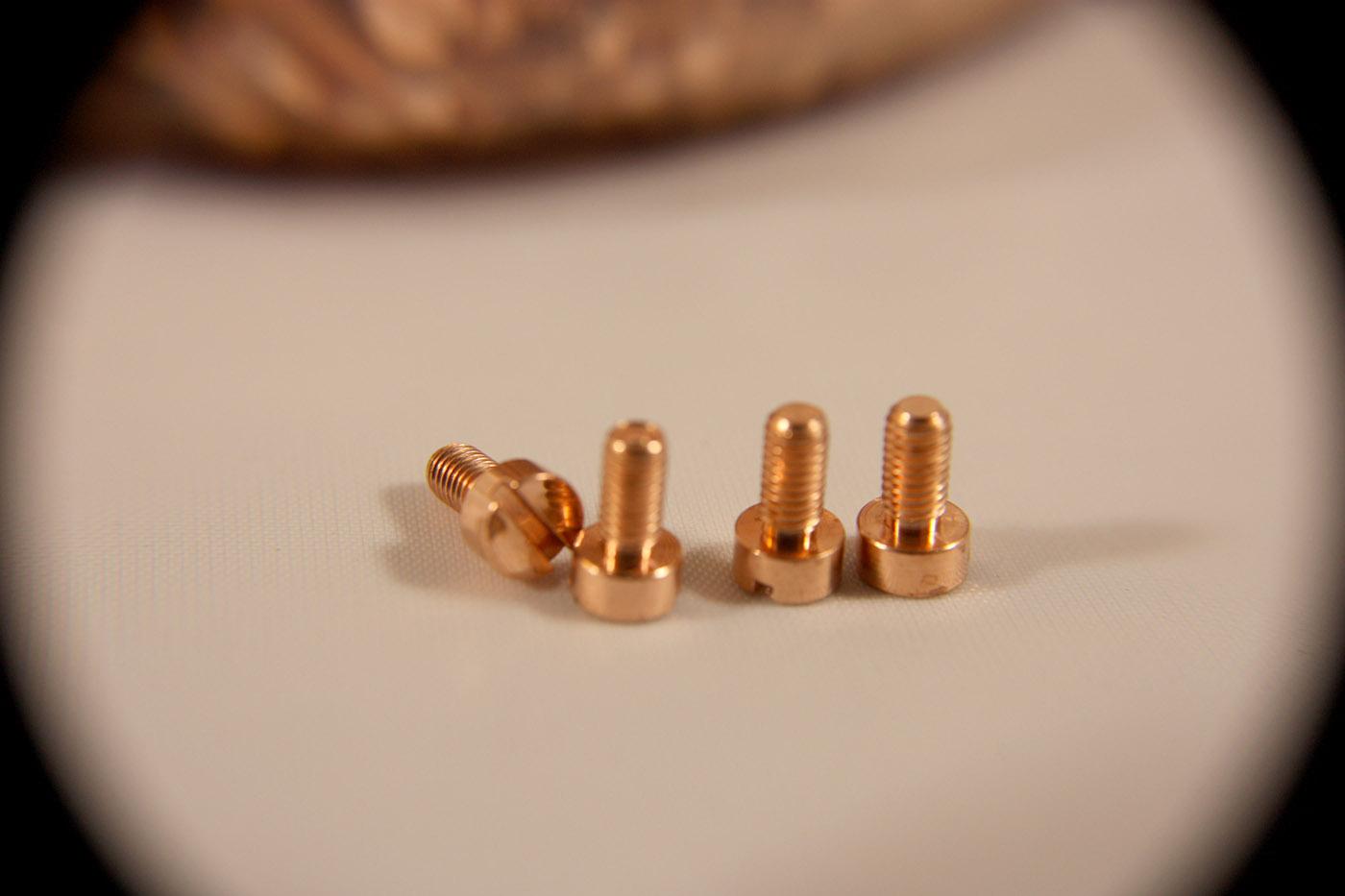copper machine screws